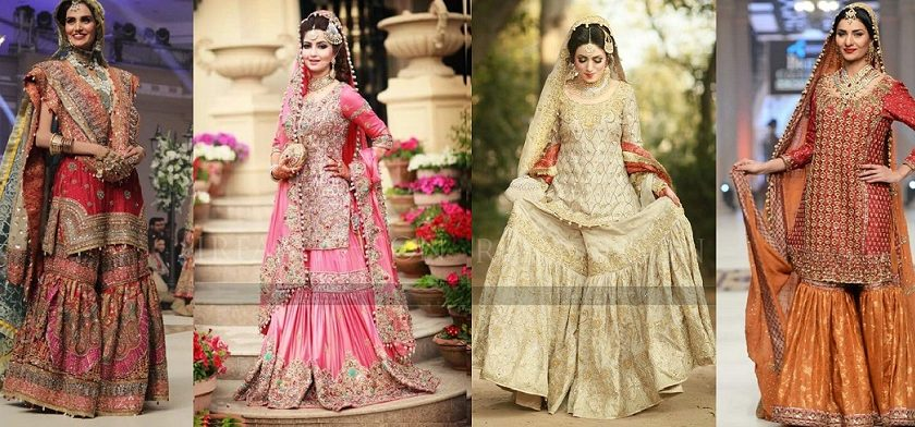 Latest Wedding Bridal Sharara Designs
