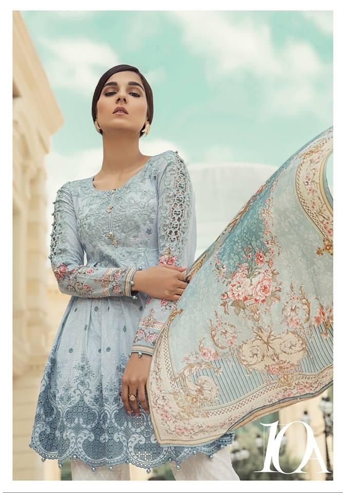 296b4acefe Maria B Lawn Collection 2018-2019 Best Pakistani Designer Summer Dresses  (41)