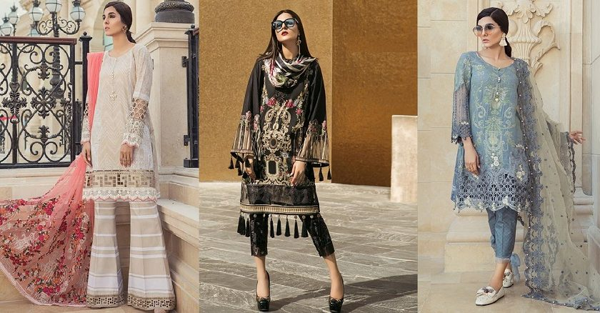 Maria B Lawn Collection 2018-2019 Best Pakistani Designer Summer Dresses