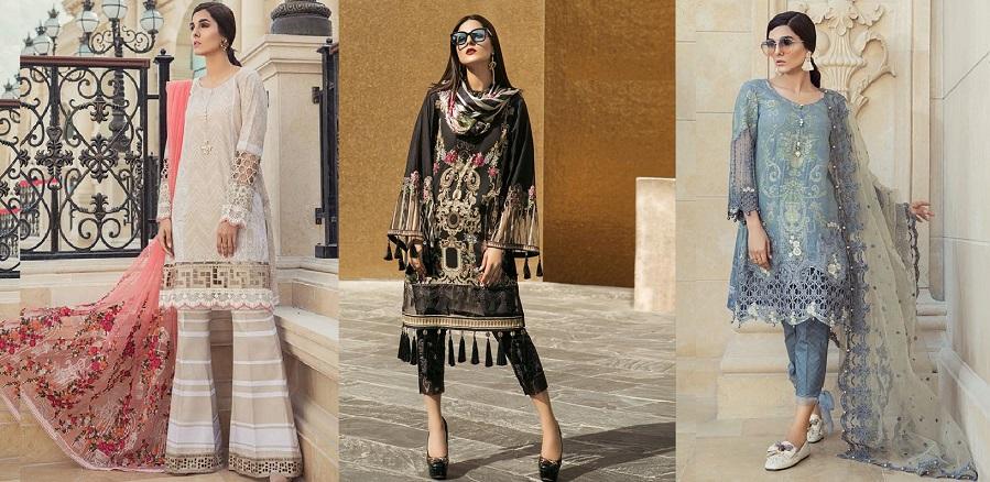 Maria B Lawn Collection 2018-2019 Best Pakistani Designer Summer Dresses