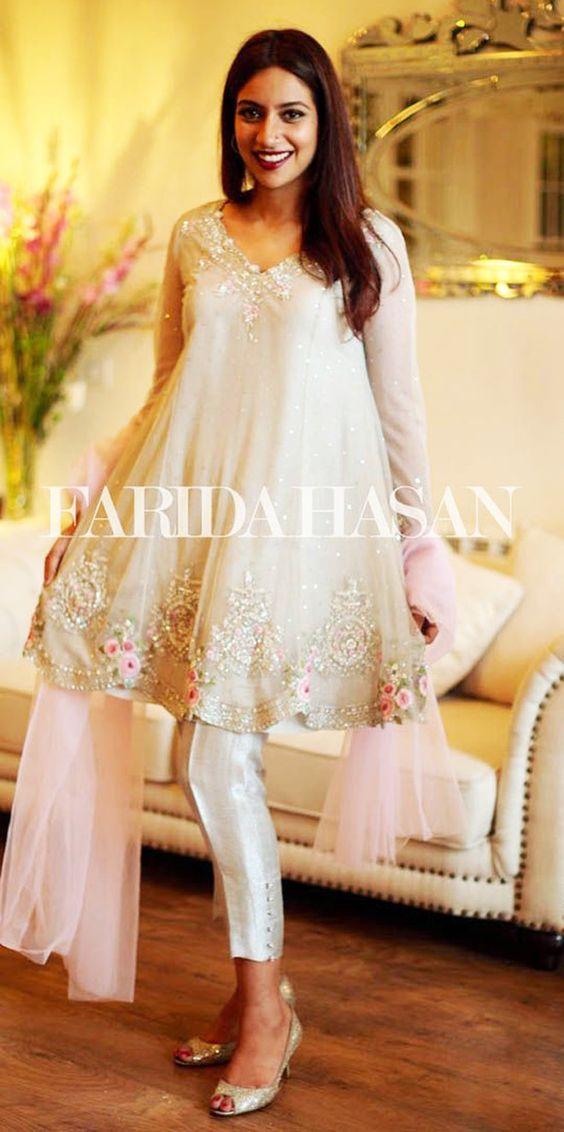 Latest Pakistani Short Frocks Peplum Tops Styles & Designs 2018-2019