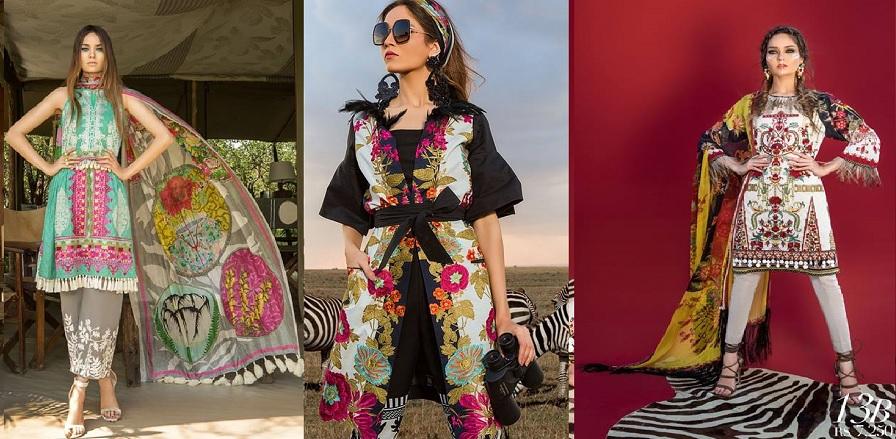 Sana Safinaz Best Summer Lawn Dresses Latest Collection 2018-2019