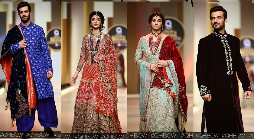 Aisha Farid- QMobile HUM TV Bridal Couture Week 2017 Day 1 Collections