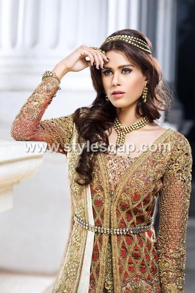 bridal  pakistani waist belt dresses designs 10