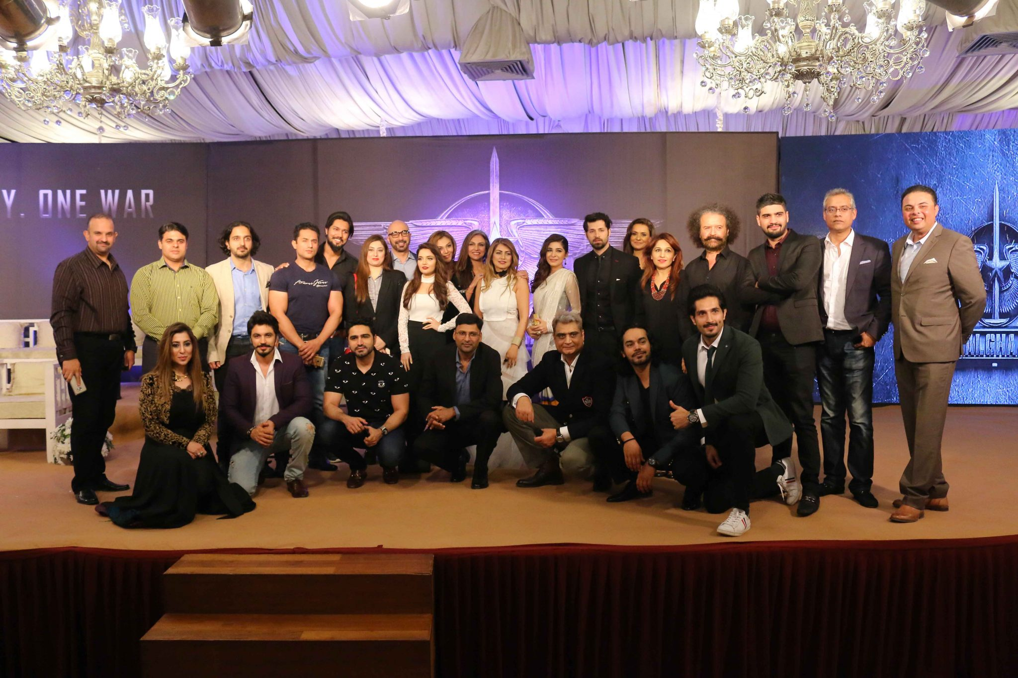 Cast and Crew of Team Yalghaar at Trailer Launch & Press Conference of Biggest Pakistani Movie Yalghaar