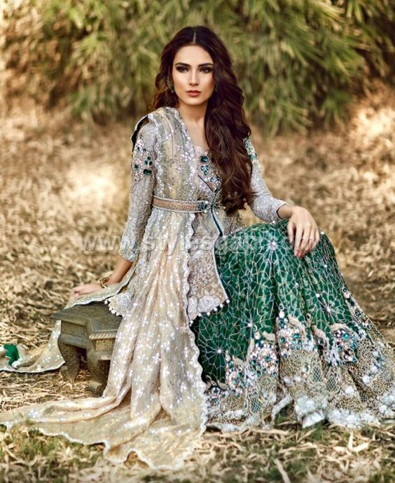 e3435e6e2395 Pakistani Waist Belt Dresses Designs Party Wedding Collection 2018-19