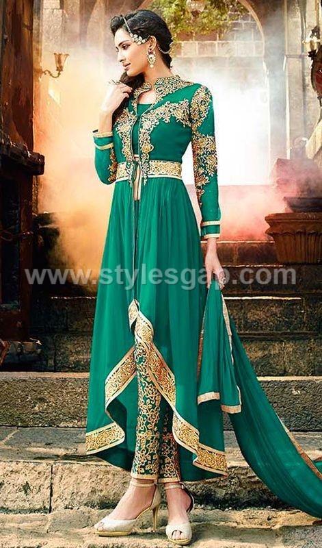 Gowns Pakistani Waist Belt Dresses Designs 3 Stylesgap Com