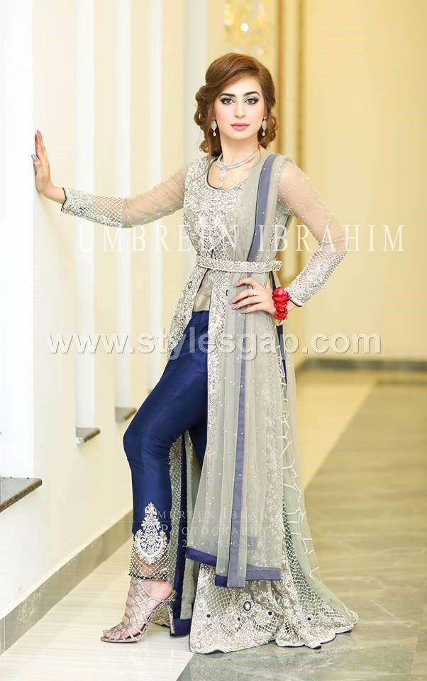 Gowns- Pakistani waist belt Dresses Designs (8)