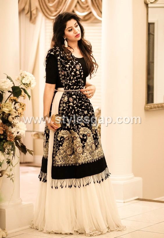 Lehenga Choli- Pakistani Waist Belt Dresses Designs (2)