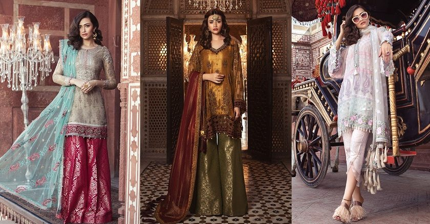 Best Eid Women Dresses Maria B Mbroidered Eid Collection 2018-19
