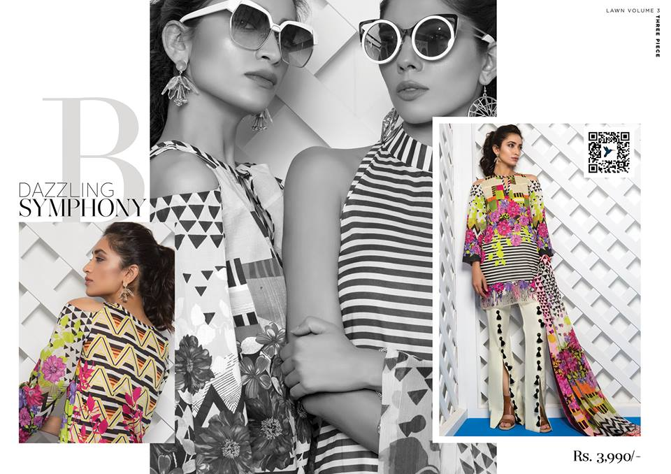Dazzling Symphony- Sapphire Latest Eid Lawn Collection 2017-2018 (1)