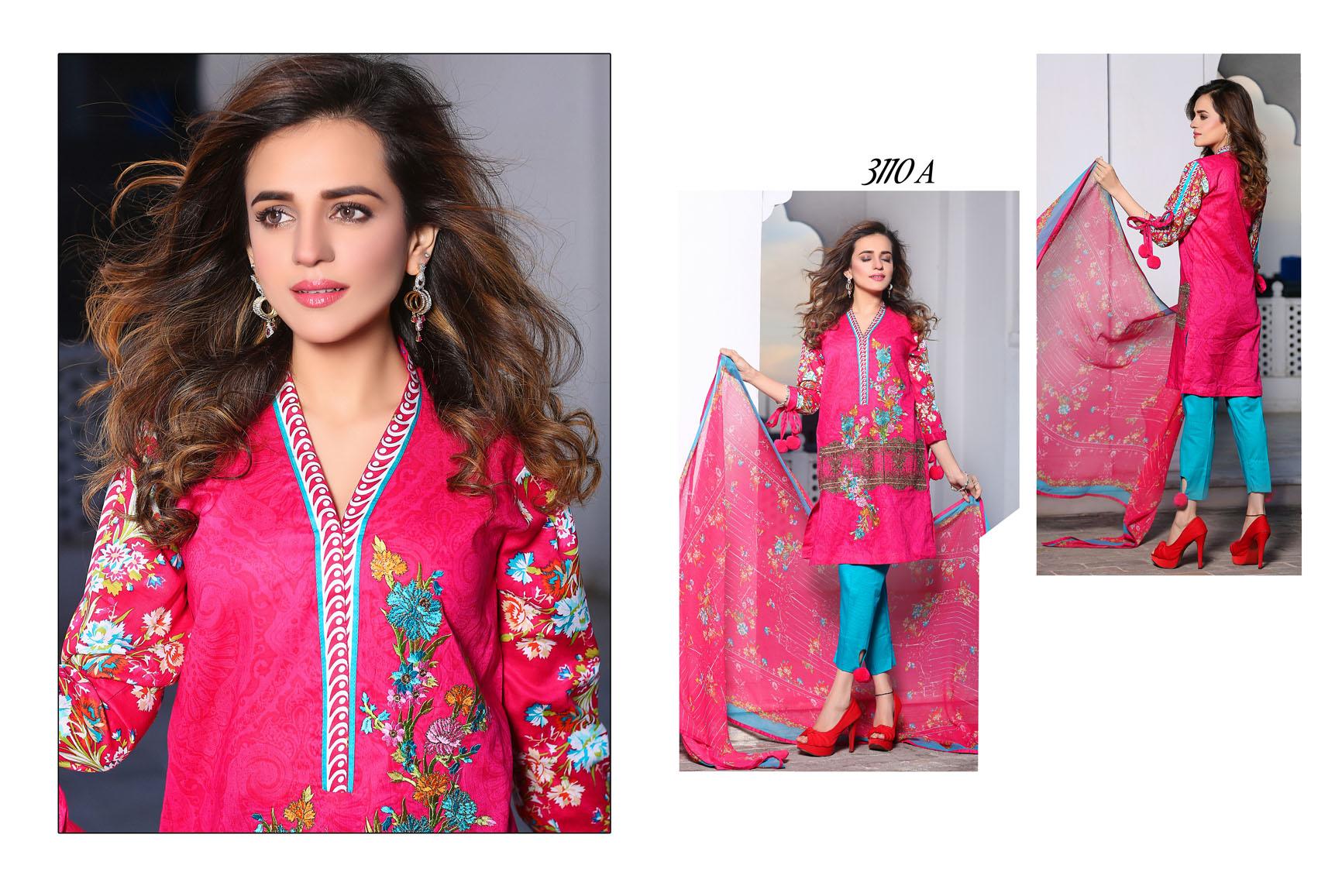 Flora Premium Lawn Designs Collection 2017-2018 Best Pakistani Lawn Suits (11)