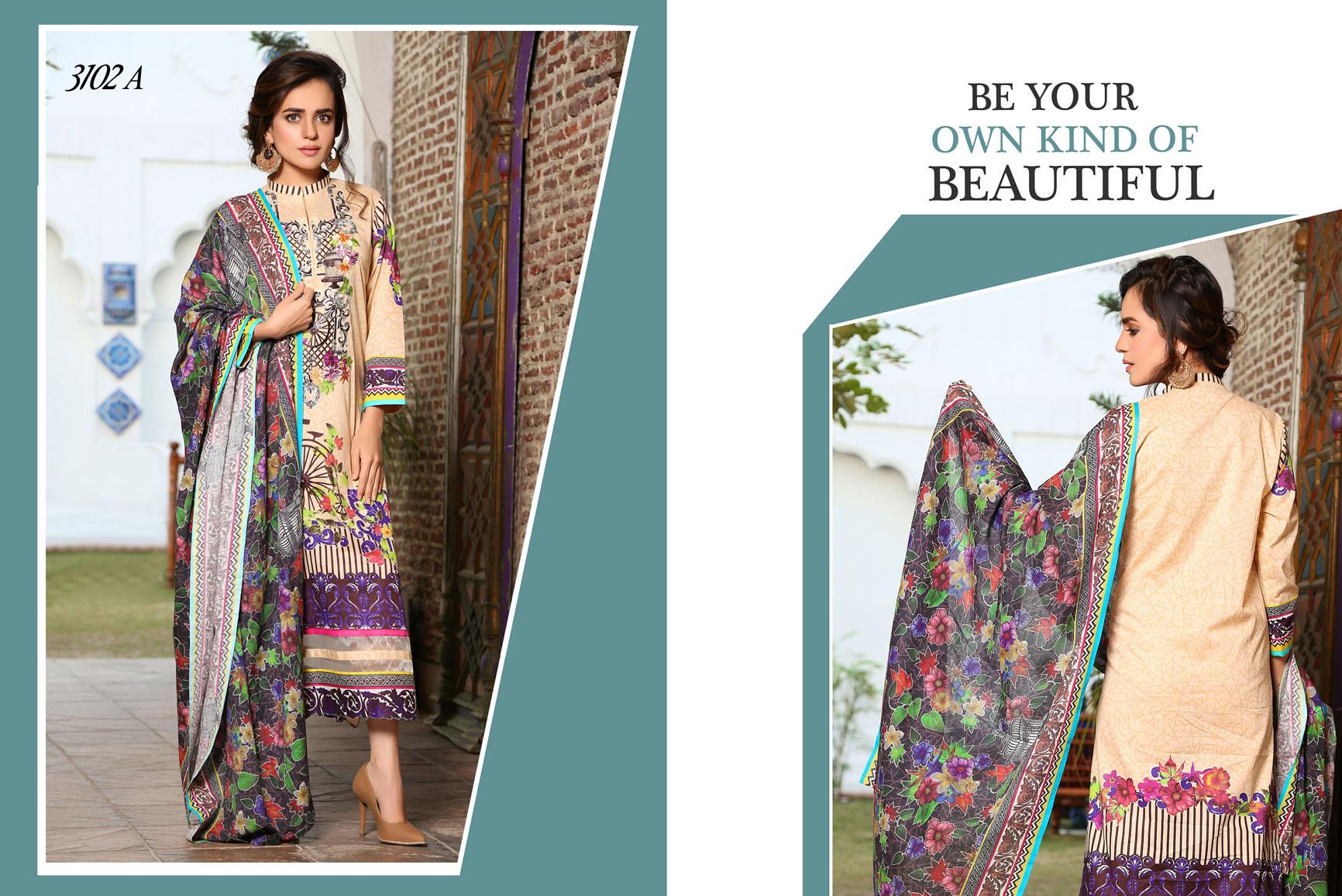 Flora Premium Lawn Designs Collection 2017-2018 Best Pakistani Lawn Suits (12)