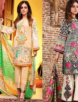Flora Premium Lawn Designs Collection 2017-2018 Best Pakistani Lawn Suits Dresss