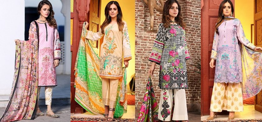 Flora Premium Lawn Designs Collection 2017-2018 Best Pakistani Lawn Suits Dresss