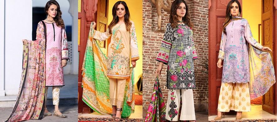 Flora premium lawn designs collection 2017 best pakistani for Bano market faisalabad dresses