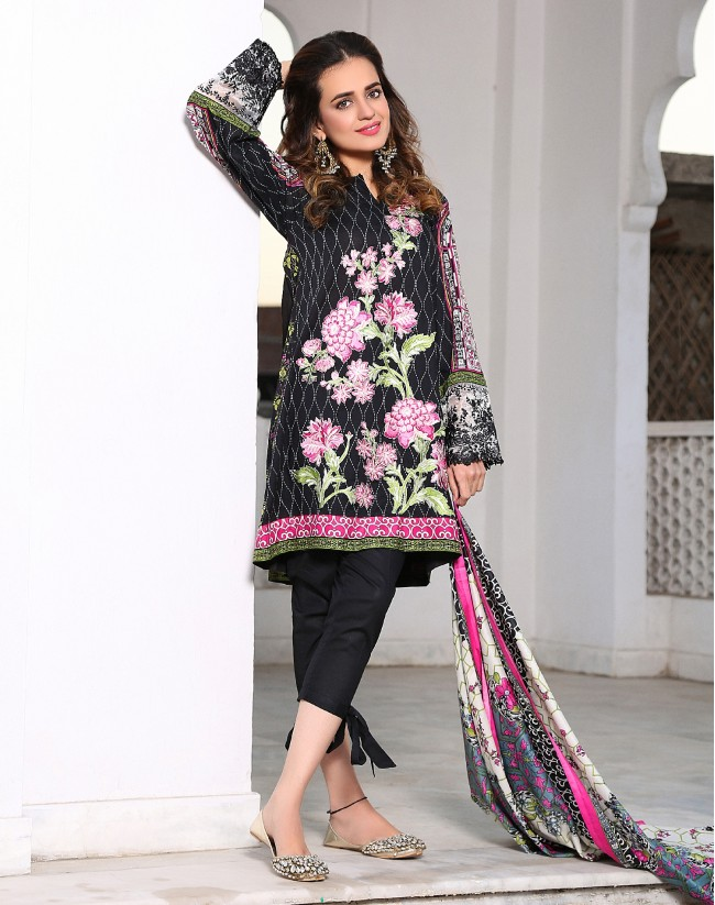 eab05a6207 ... features of this flora premium lawn collection. Neckline embroideries,  side panel embellishments or borderline thread work, everything style is  there to ...