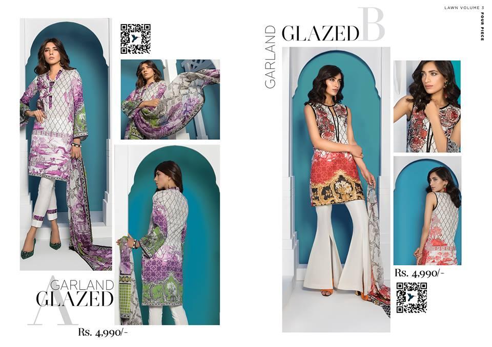Garland Glaze- Sapphire Latest Eid Lawn Collection 2017-2018