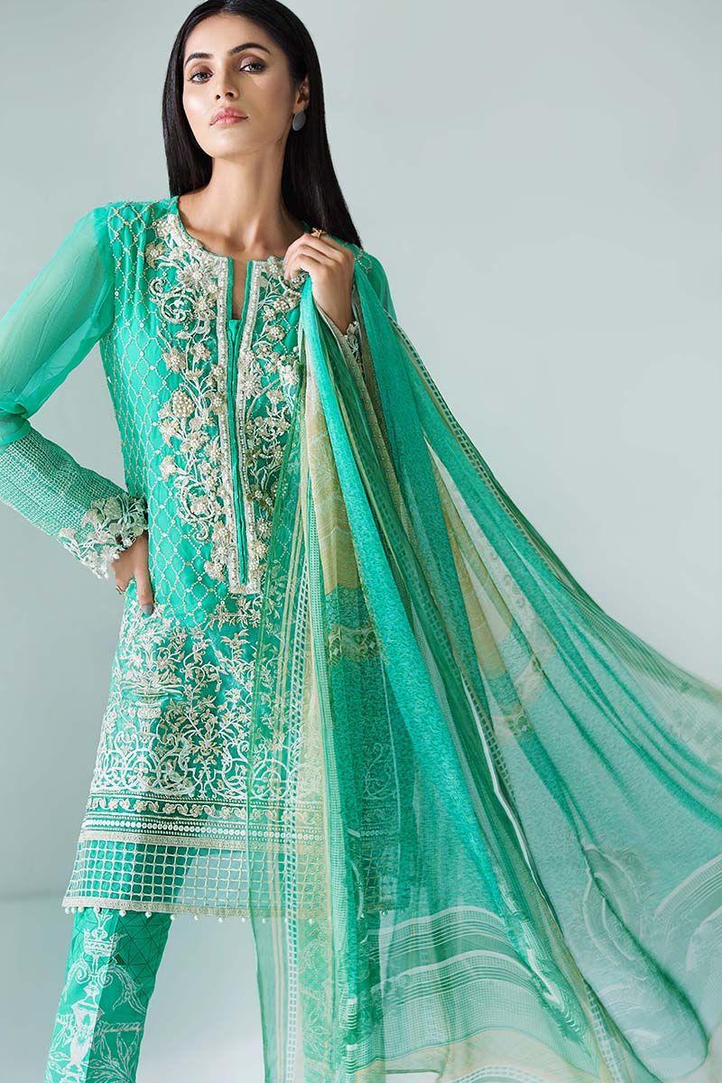 Gul Ahmed Festive Eid Collection 2018 19 Lawn, Silk & Chiffon Dresses