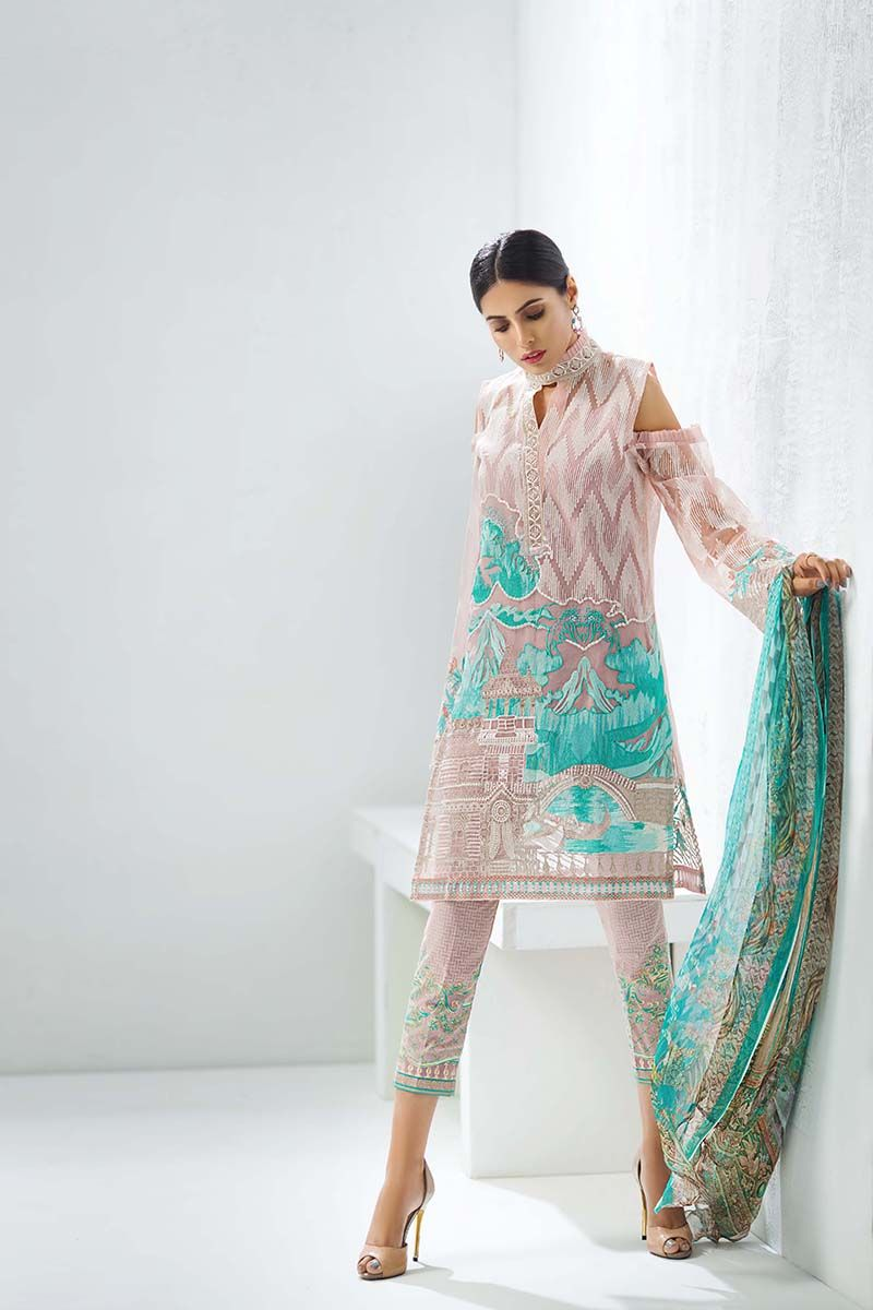 Gul Ahmed Festive Eid Collection 2019 20 Lawn Silk