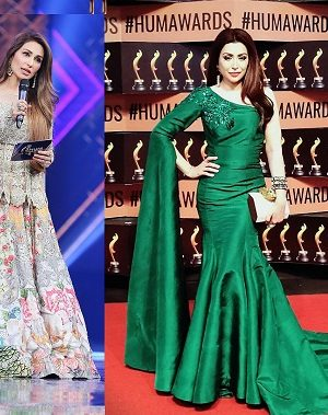 Hareem Farooq- Top 10 Best Dressed Celebrities at PEL 5th Hum Awards 2017