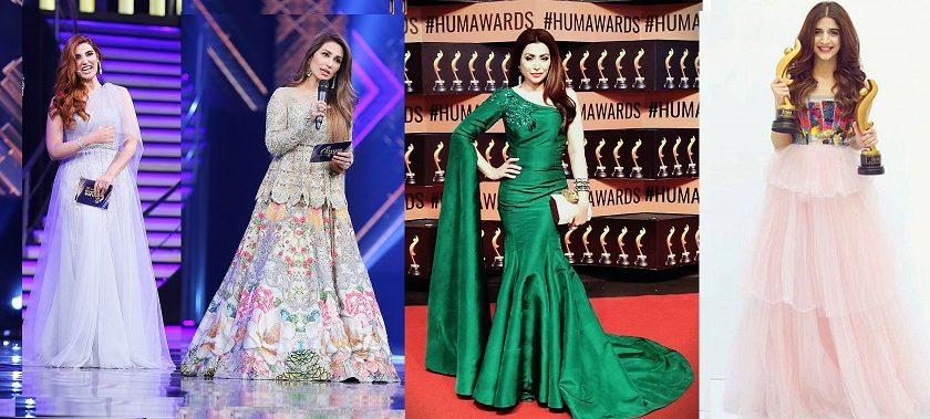 Hareem Farooq- Top 10 Best Dressed Celebrities at PEL 5th Hum Awards 2017