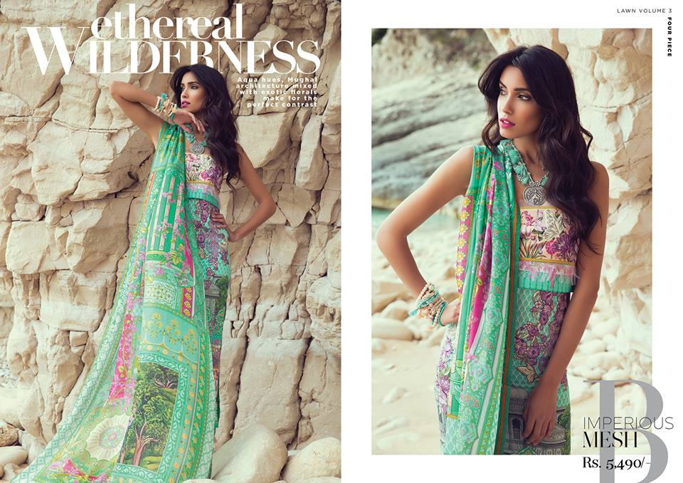 Impreous Mesh- Sapphire Latest Eid Lawn Collection 2017-2018 (1)