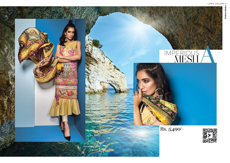 Impreous Mesh- Sapphire Latest Eid Lawn Collection 2017-2018 (2)