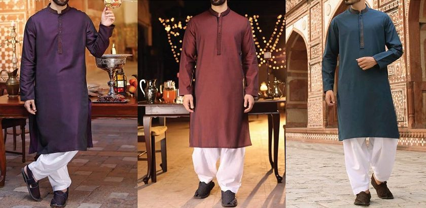 J. Latest Men Eid Kurta Shalwar Designs 2018-2019 Collection