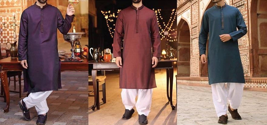 J. Latest Men Eid Kurta Shalwar Designs 2018-2019 Collection