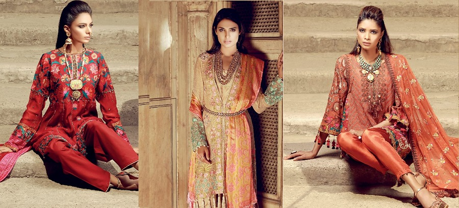 Latest Khaadi Lawn Chiffon Eid Dresses Luxury Collection 2018-2019