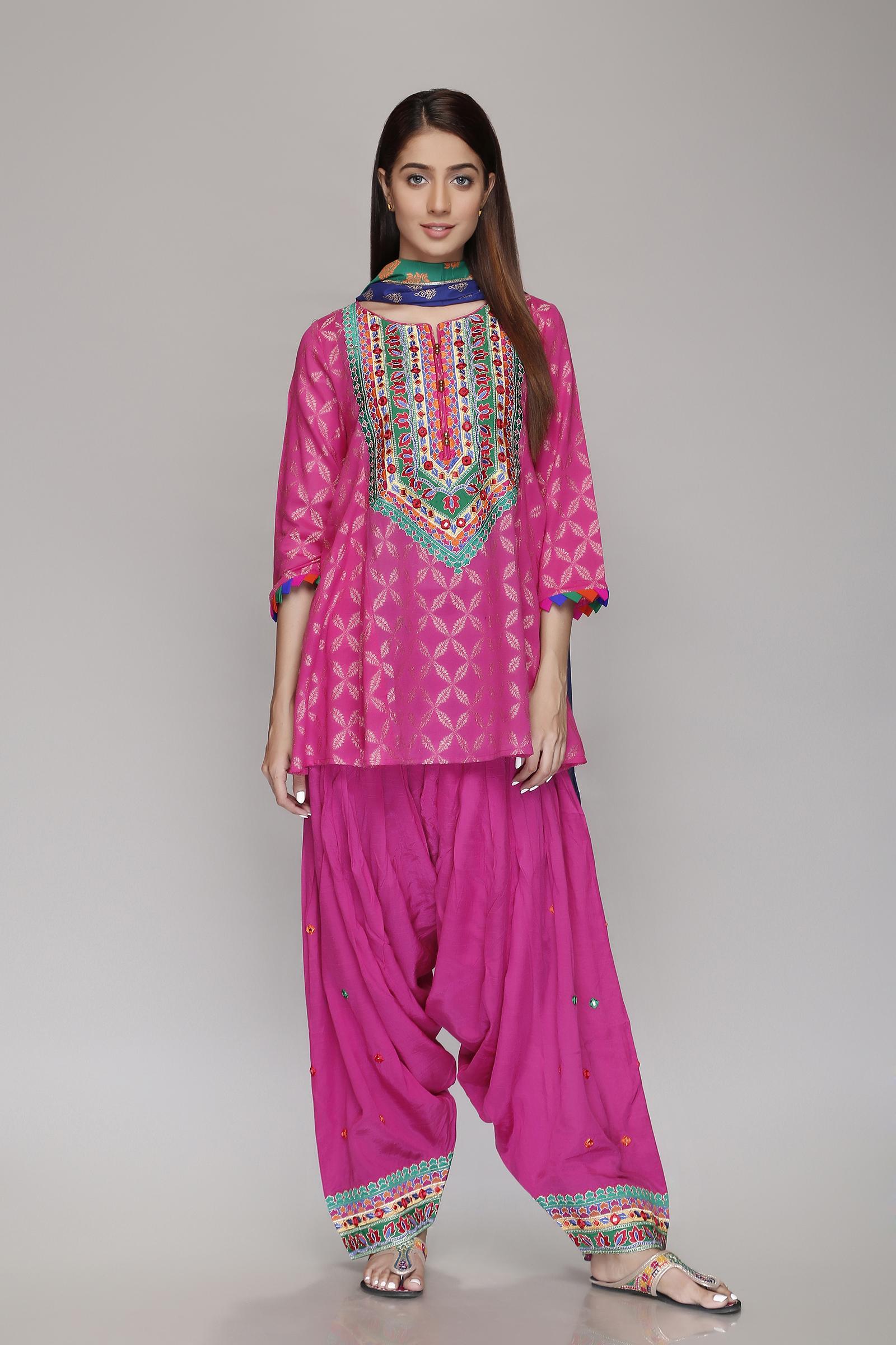 Rang Ja Latest Colorful Kurti Dresses 2018-2019 Eid Collection