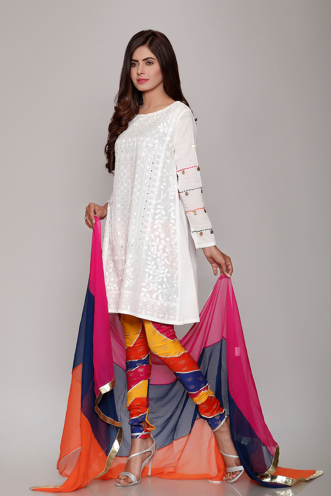1b09ddef67 Rang Ja Trendy Eid Colorful Kurti Dresses 2018-2019 Collection (2 ...