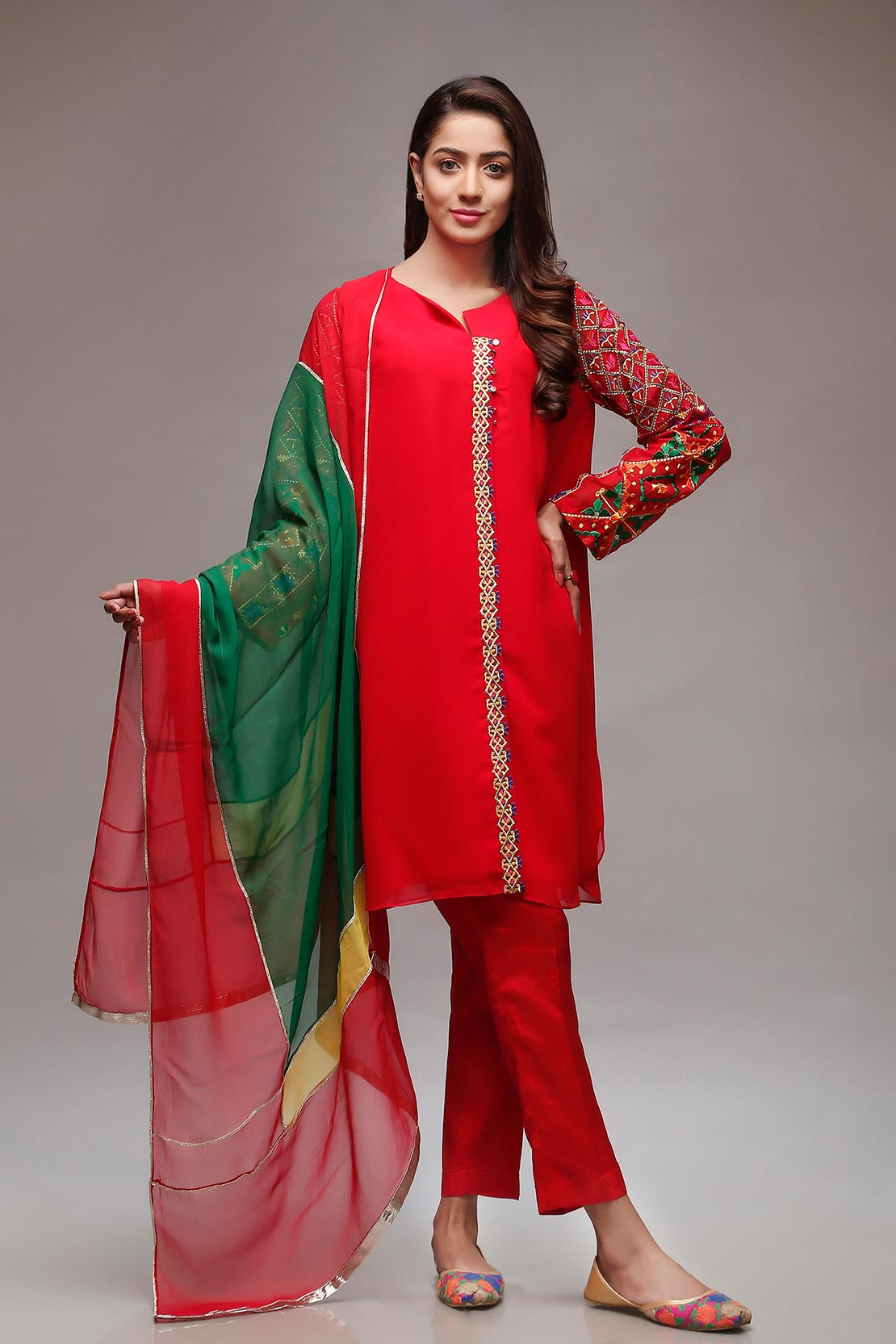 rang ja trendy eid colorful kurti dresses 20182019