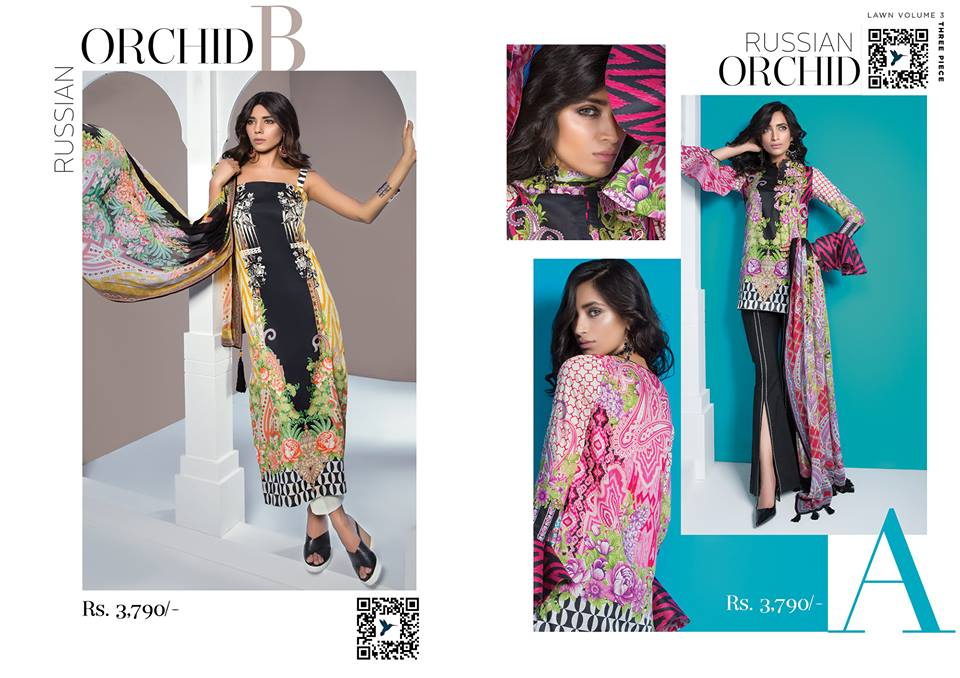 Russain Orchid- Sapphire Latest Eid Lawn Collection 2017-2018