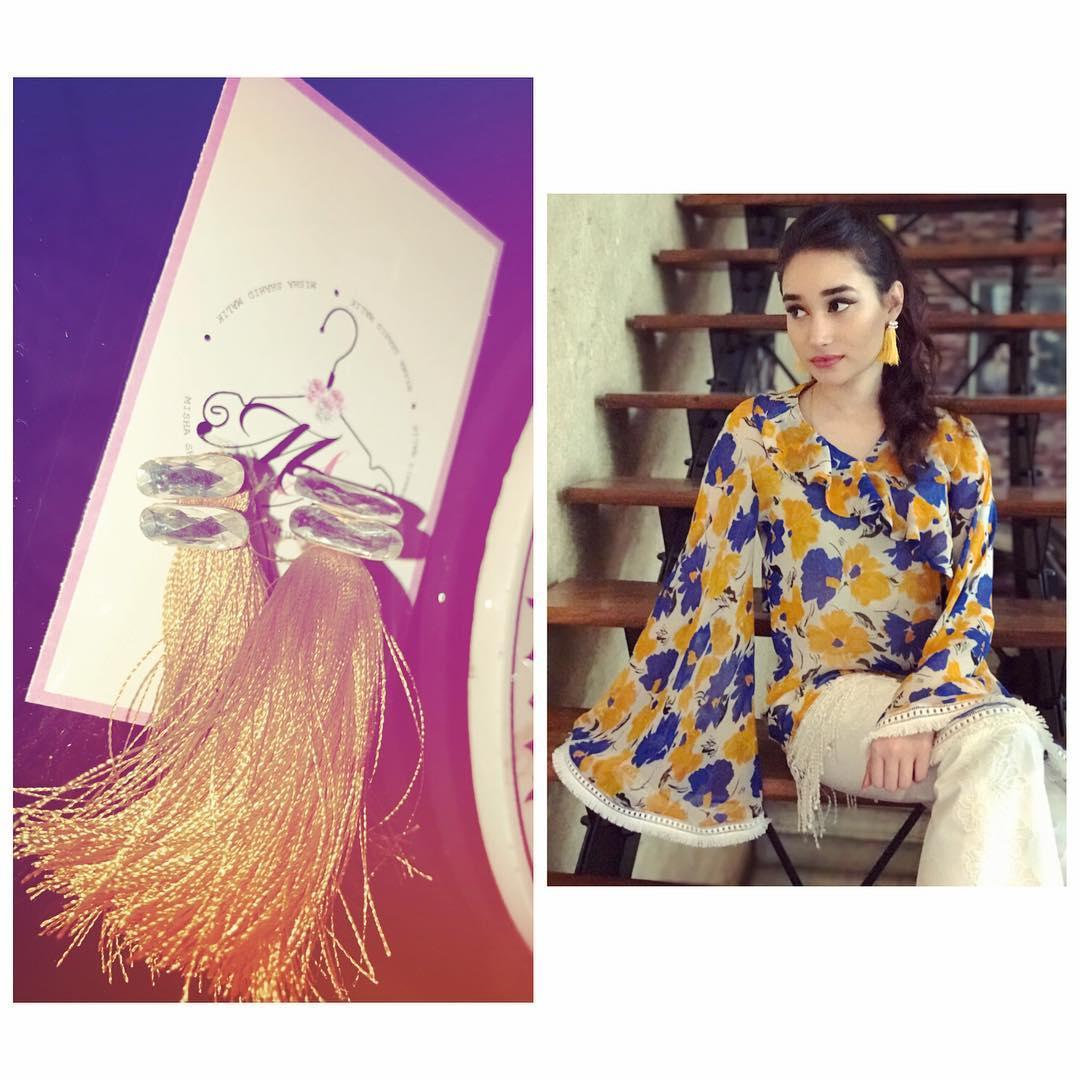 TASSELS JEWELLERY- Misha Couture Beautiful Pakistani Eid Dresses (4)