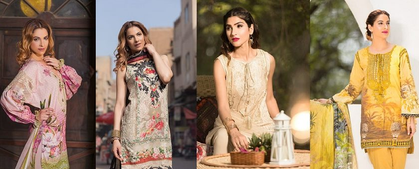 pink rush- Firdous Lawn Eid Exclusive Dresses Collection 2017-2018 Latest Designs