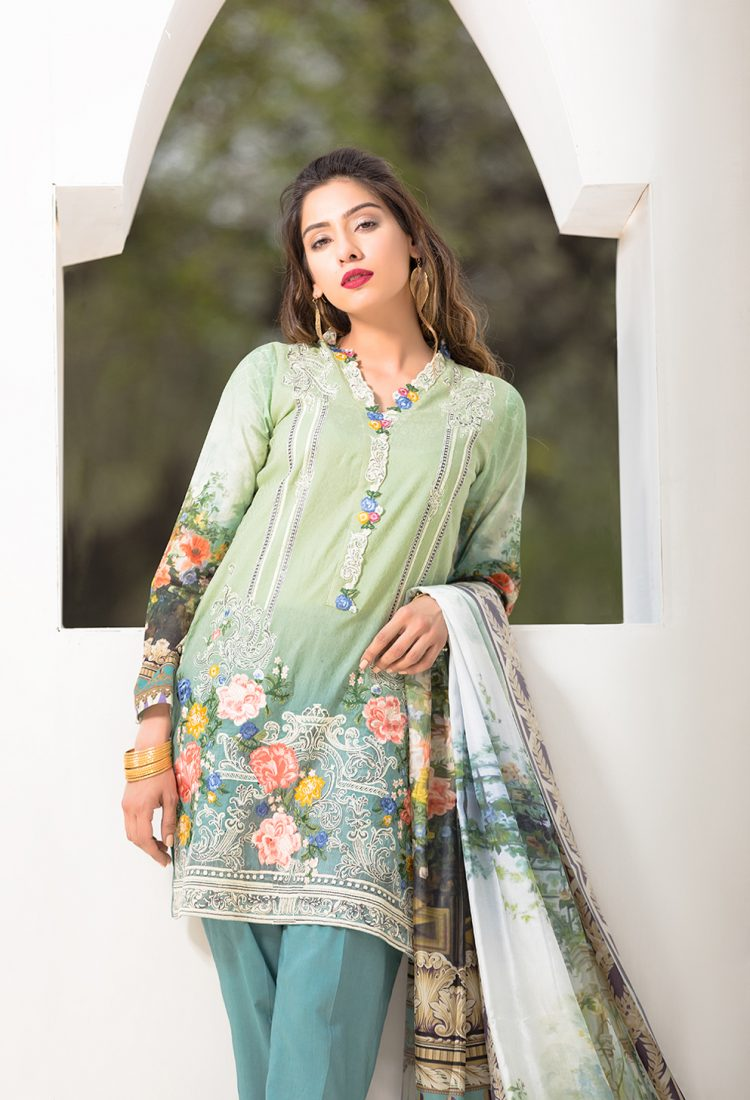 tropical tranguilty- Firdous Lawn Eid Exclusive Dresses Collection 2017-2018 Latest Designs (1)