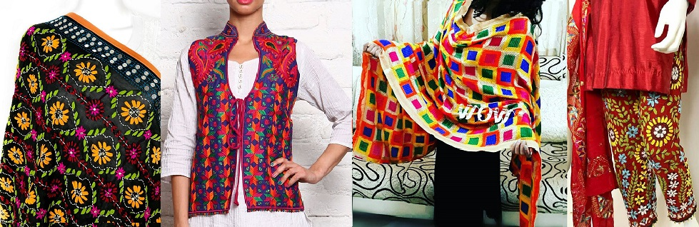 Best Latest Phulkari Dress Designs, Duppatta, Trousers, Jackets