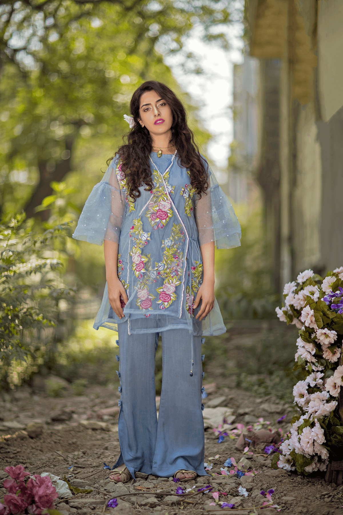 Cute Lahori Ink Semi Formal Eid Dresses Designs Collection 2017-18 (4)