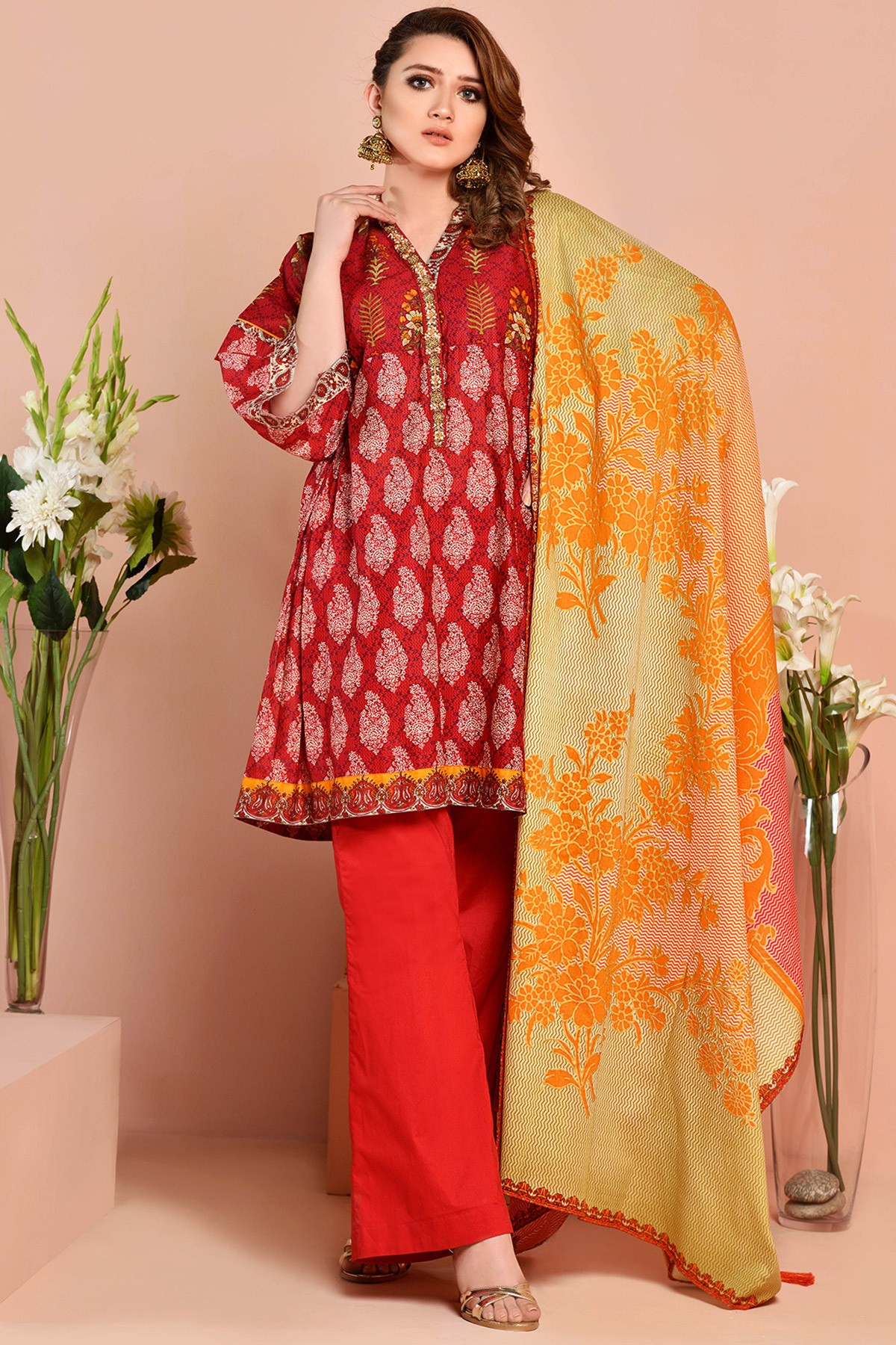 Kayseria Latest Winter Prints Best Shawls Dresses 2014: Kayseria Beautiful Fancy Eid Dresses Collection 2018-2019