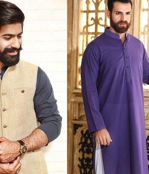 Khas Latest Men Fashion Eid Kurta Shalwar Kameez Collection 2017-18