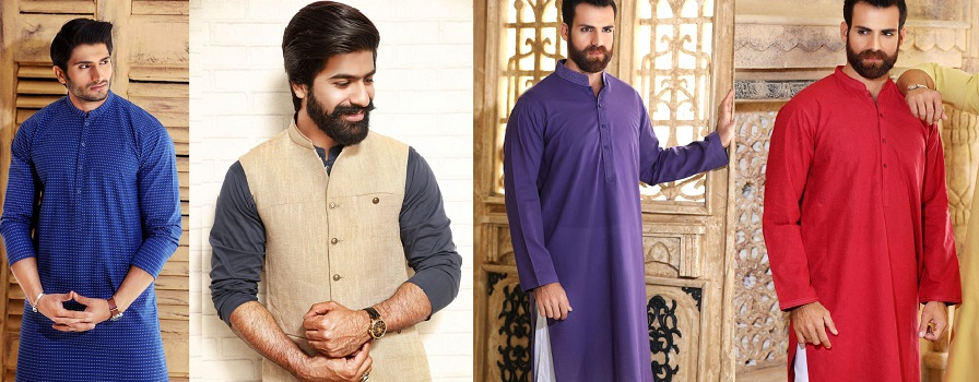 Khas Latest Men Fashion Eid Kurta Shalwar Kameez Collection 2017-18