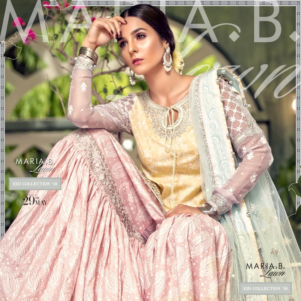64ed69d8e6e Latest Maria B Eid Lawn Dresses Designs Collection 2018-2019 (12 ...