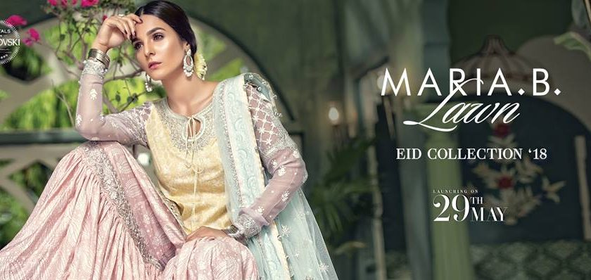 Latest Maria B Eid Lawn Dresses Designs Collection 2018-2019 (7)