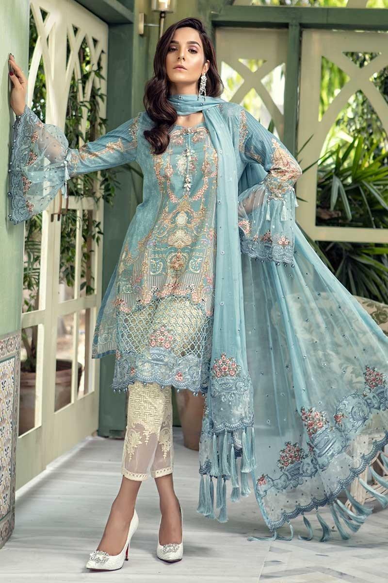 9feb6d3b48a Latest Maria B Luxury Eid Lawn Dresses Designs Collection 2018-2019 ...