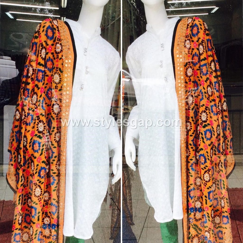 73edffea3a ... with matching shalwar kameez, kurta pants or any other attire of your  choice, as these look equally ravishing with each. Latest Phulkari Dress  Designs ...