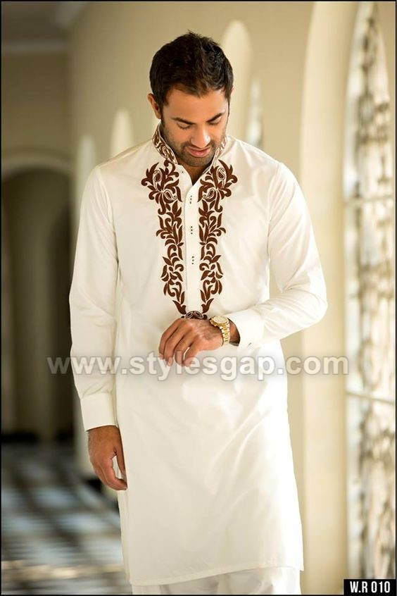 725303f007 The collars or neckline of the kurta is subjected to intricate embroideries  with delicate motifs in thread work. Fine embellishments around the  sleeves, ...