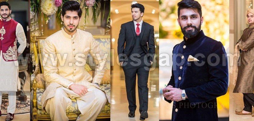 Latest Men Wedding Dresses Mehndi Barat Walima Collection 2017-2018