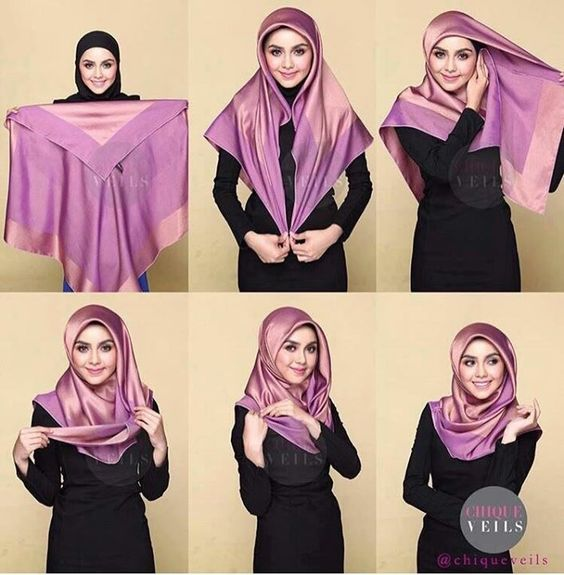 Latest Beautiful Hijab Styles Tutorial 2018 19 Different Face Shapes